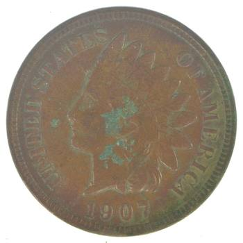 "Detailed ""Liberty"" 1907 Indian Head Cent - Great Condition!"