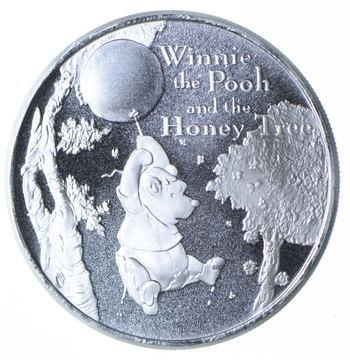 Disney Winnie the Pooh - 1 Oz .999 Silver Round Limited Edition Honey Balloon