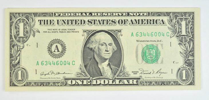Donald REAGAN 1981-A $1.00 Crisp Federal Reserve Note
