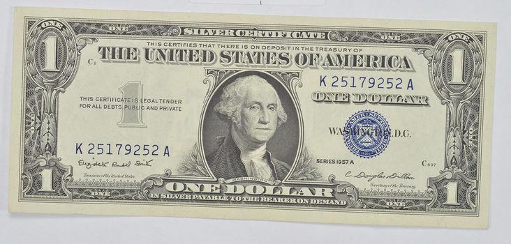 Douglas Dillon Sec Crisp Silver Certificate 1957-A - $1.00 Dollar Note