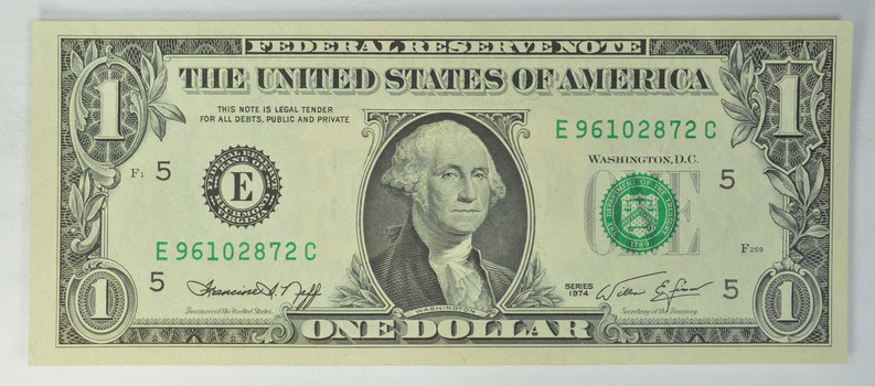 E' Series - $1.00 Federal Reserve Note - Francine I. Neff - Richmond Virginia