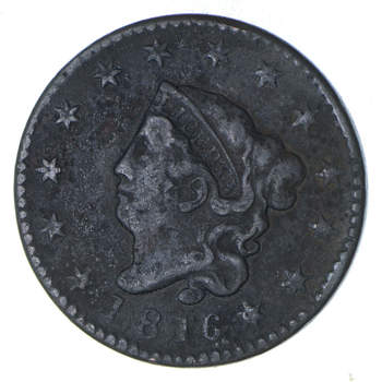 EARLY - 1816 - Liberty Head United States LARGE CENT - TOUGH Coin - Look at Redbook!