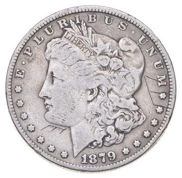 Early 1879 Morgan Silver Dollar - 90% US Coin