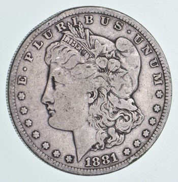 Early 1881-S Morgan Silver Dollar - 90% US Coin