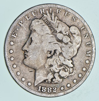 Early 1882 Morgan Silver Dollar - 90% US Coin