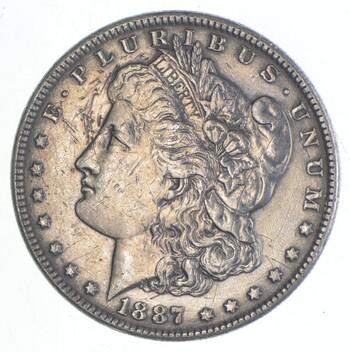 Early 1887 Morgan Silver Dollar - 90% US Coin