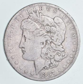 Early 1887-O Morgan Silver Dollar - 90% US Coin