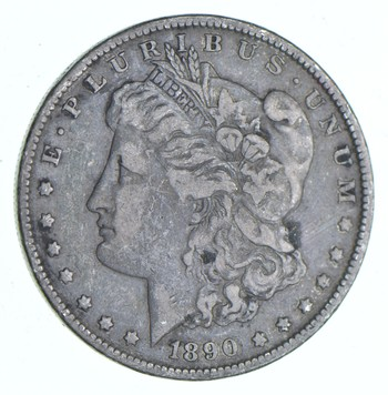 Early 1890 Morgan Silver Dollar - 90% US Coin