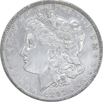 Early - 1891 Morgan Silver Dollar - 90% US Coin