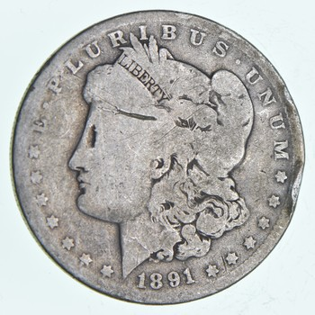 Early 1891-O Morgan Silver Dollar - 90% US Coin