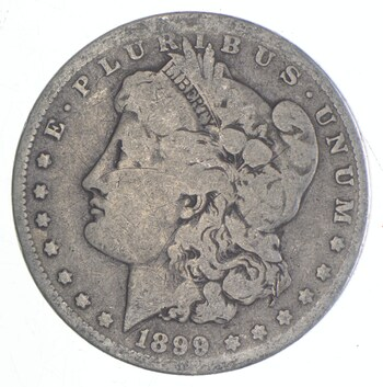 Early 1899-O Morgan Silver Dollar - 90% US Coin