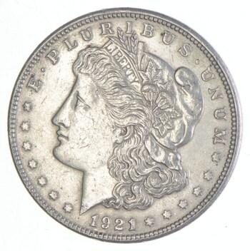 Early 1921 Morgan Silver Dollar - 90% US Coin