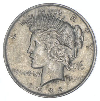 Early 1922 Peace Silver Dollar - 90% US Coin