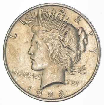 Early - 1923 - Peace Silver Dollar - 90% US Coin