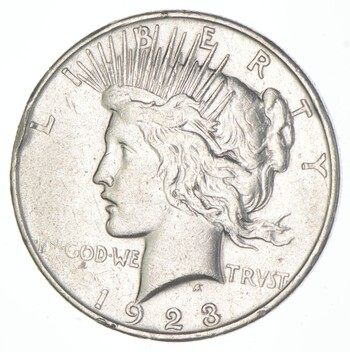 Early - 1923-D - Peace Silver Dollar - 90% US Coin