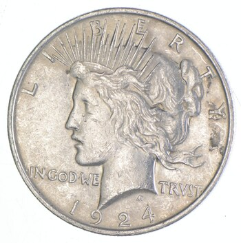 Early 1924 Peace Silver Dollar - 90% US Coin