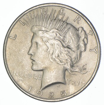 Early - 1925 - Peace Silver Dollar - 90% US Coin