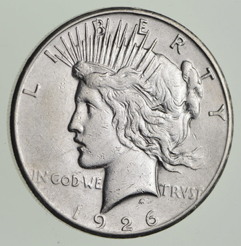 Early - 1926-S - Peace Silver Dollar - 90% US Coin