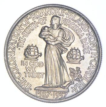 Early - 1937 Roanoke Island US Mint Commemorative Half Dollar - Brilliant
