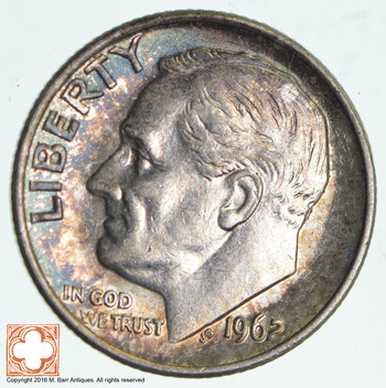 Early 1962 Roosevelt 90% Silver Dime