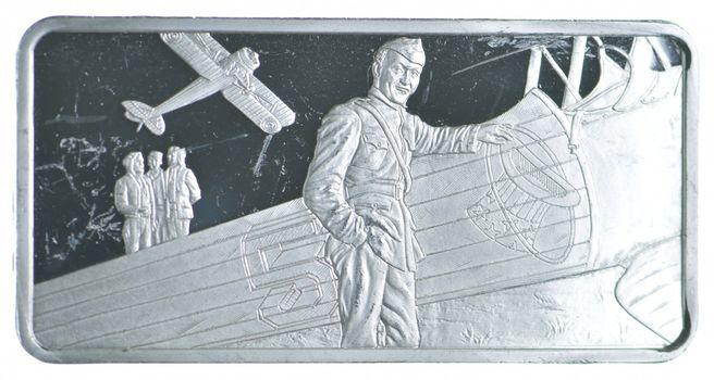 Edward V. Rickenbacker Sterling Silver Art Bar - .925 32 - Grams -