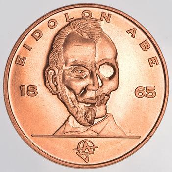 Eidolon Lincoln - Zombie Apocalypze - 1 Oz .999 Fine Copper Round