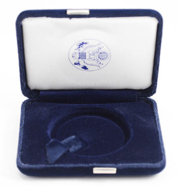 Empty Blue Velvet Silver Eagle Display Box - Official US Mint Issued