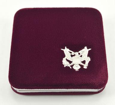 Empty Maroon Velvet Commemorative Proof Silver DollarDisplay Box - Official US Mint Issued