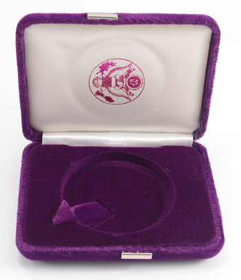 Empty Purple Velvet Silver Eagle Display Box - Official US Mint Issued