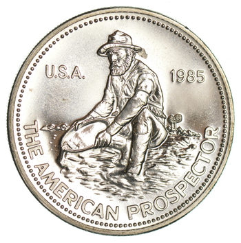 ENGELHARD - 1985 Prospector 1 Oz. Silver Round - .999 Silver - One Troy Ounce