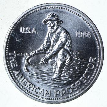 ENGELHARD - 1986 Prospector 1 Oz. Silver Round - .999 Silver - One Troy Ounce