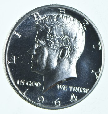 ERROR - 1964 TRANSITIONAL Reverse - PROOF Kennedy Half Dollars - 90% Silver - Tough Coin!
