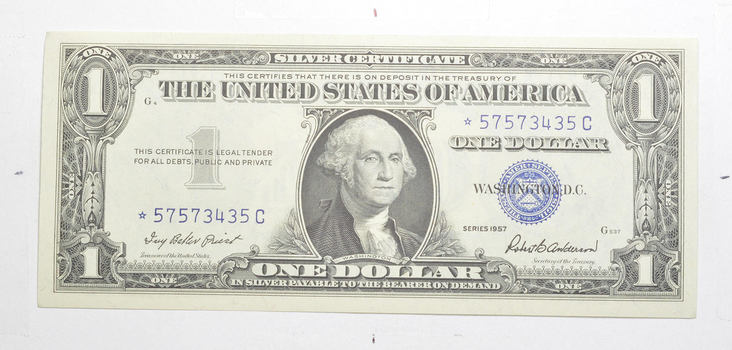 ERROR Replacement *Star* 1957 $1.00 Silver Certificate Note - Tough
