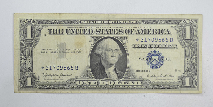 ERROR Replacement *Star* 1957 $1.00 Silver Certificate Replacement Note - Tough