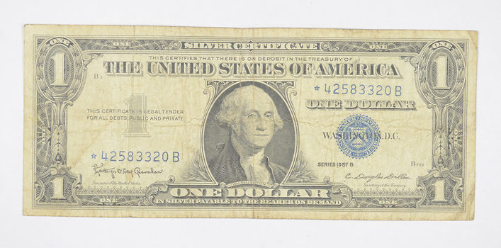 ERROR Replacement *Star* 1957-B $1.00 Silver Certificate Note - Tough