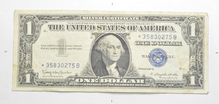 ERROR Replacement *Star* 1957-B $1.00 Silver Certificate Note - Tough