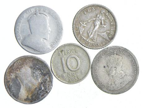 Estate Silver World Coin Collection Lot - Mixed - Exact Coins - All SILVER