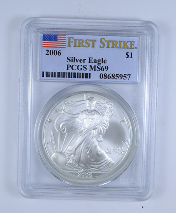 FIRST STRIKE - 2006 American Silver Eagle - PCGS Graded MS-69 - Tough Coin