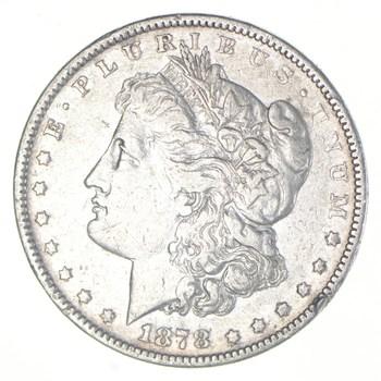 First Year - 1878 Morgan Silver Dollar - Tough Coin