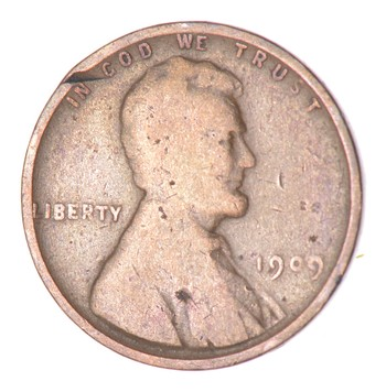 First Year - 1909 Lincoln Wheat Cent - Over 100 Years Old!