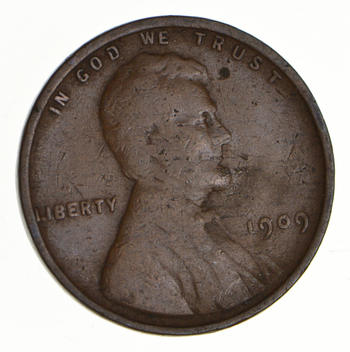 First Year - 1909Lincoln Wheat Cent - Over 100 Years Old!