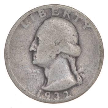 FIRST Year! 1932 Washington Quarter 90% Silver - Tough