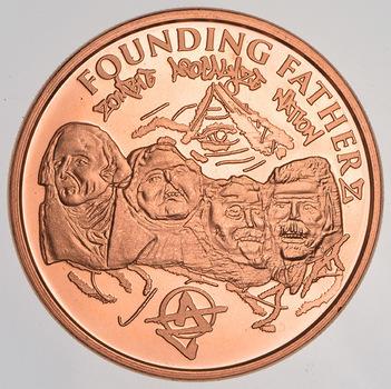 Founding Fathers Zombie Apocalypze - 1 Oz .999 Fine Copper Round