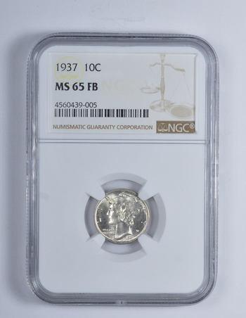 NGC MS 65 1937 Mercury Dime