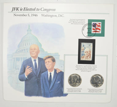 Full Color 2 Coin Ch BU 1966 & 1967 Kennedy Half Dollars Beautifully Displayed Coin Set