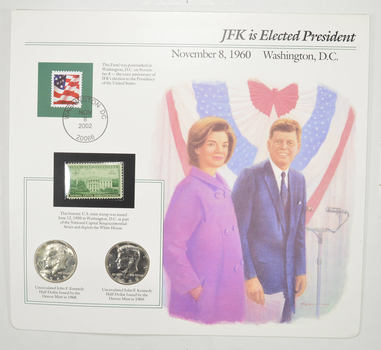 Full Color 2 Coin Ch BU 1968 & 1969 Kennedy Half Dollars Beautifully Displayed Coin Set