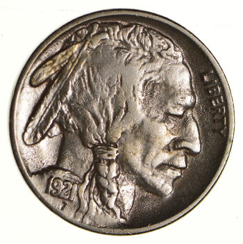 FULL HORN - High Grade - TOUGH - 1921 Buffalo Nickel - Sharp Coin!