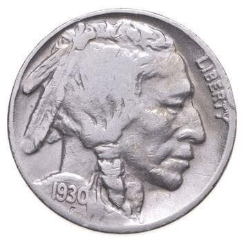 FULL HORN - High Grade - TOUGH - 1930-S Buffalo Nickel - Sharp Coin!