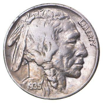 FULL HORN - High Grade - TOUGH - 1935 Buffalo Nickel - Sharp Coin!