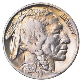 FULL HORN - High Grade - TOUGH - 1935-D Buffalo Nickel - Sharp Coin!